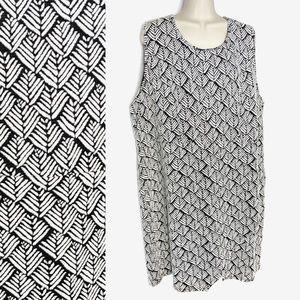 Como Black Knit Tulip Skirt Shift Dress Sz 3x